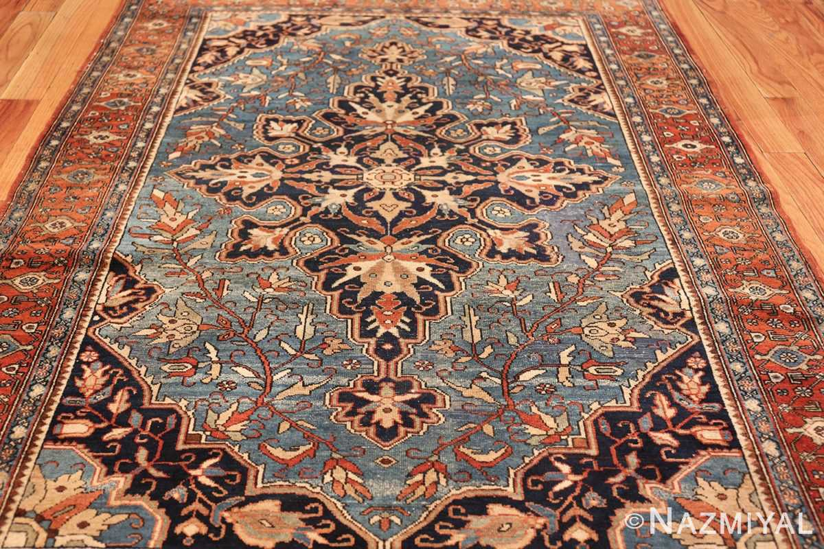 antique blue background malayer persian rug 49650 side Nazmiyal