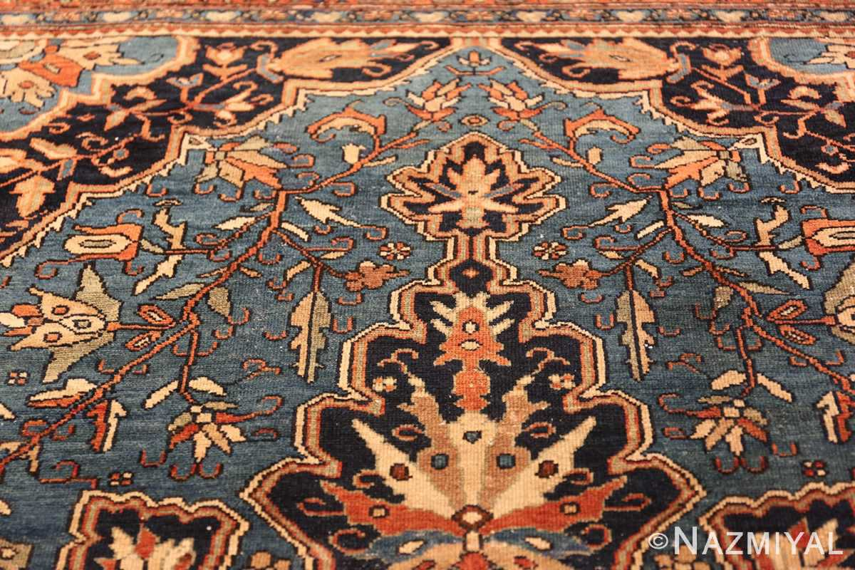 antique blue background malayer persian rug 49650 tiara Nazmiyal