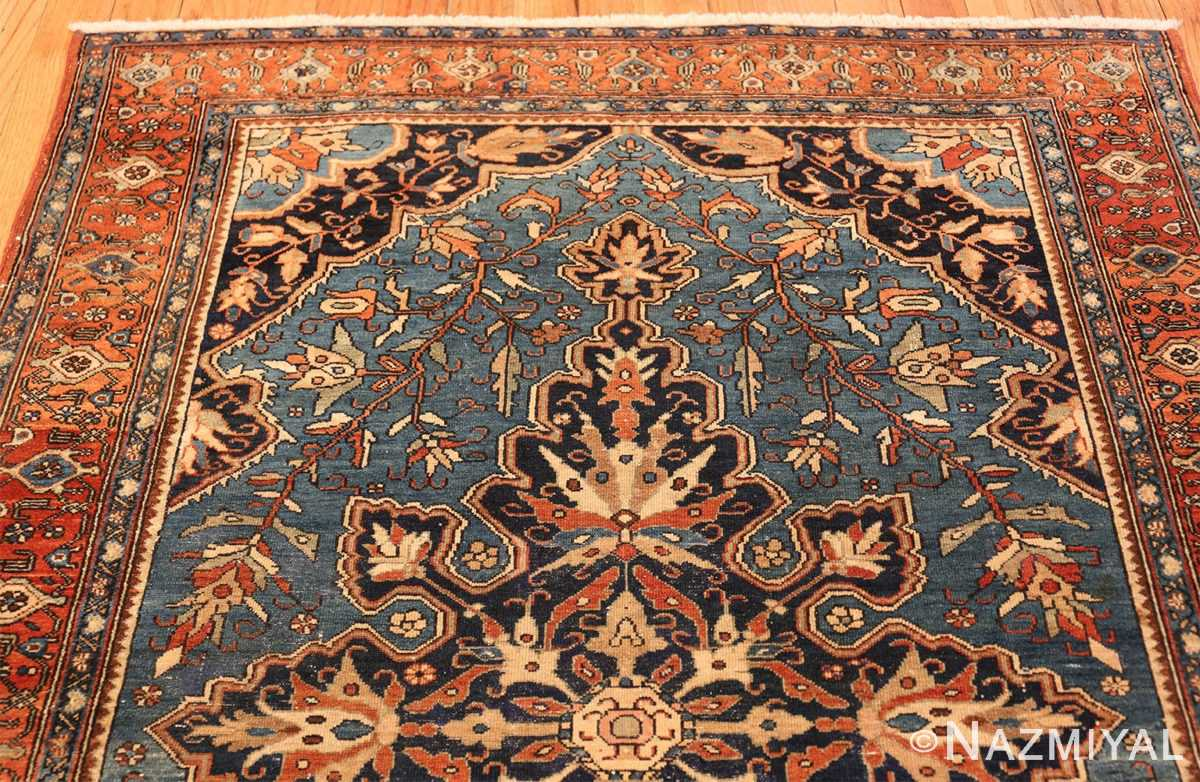 antique blue background malayer persian rug 49650 top Nazmiyal