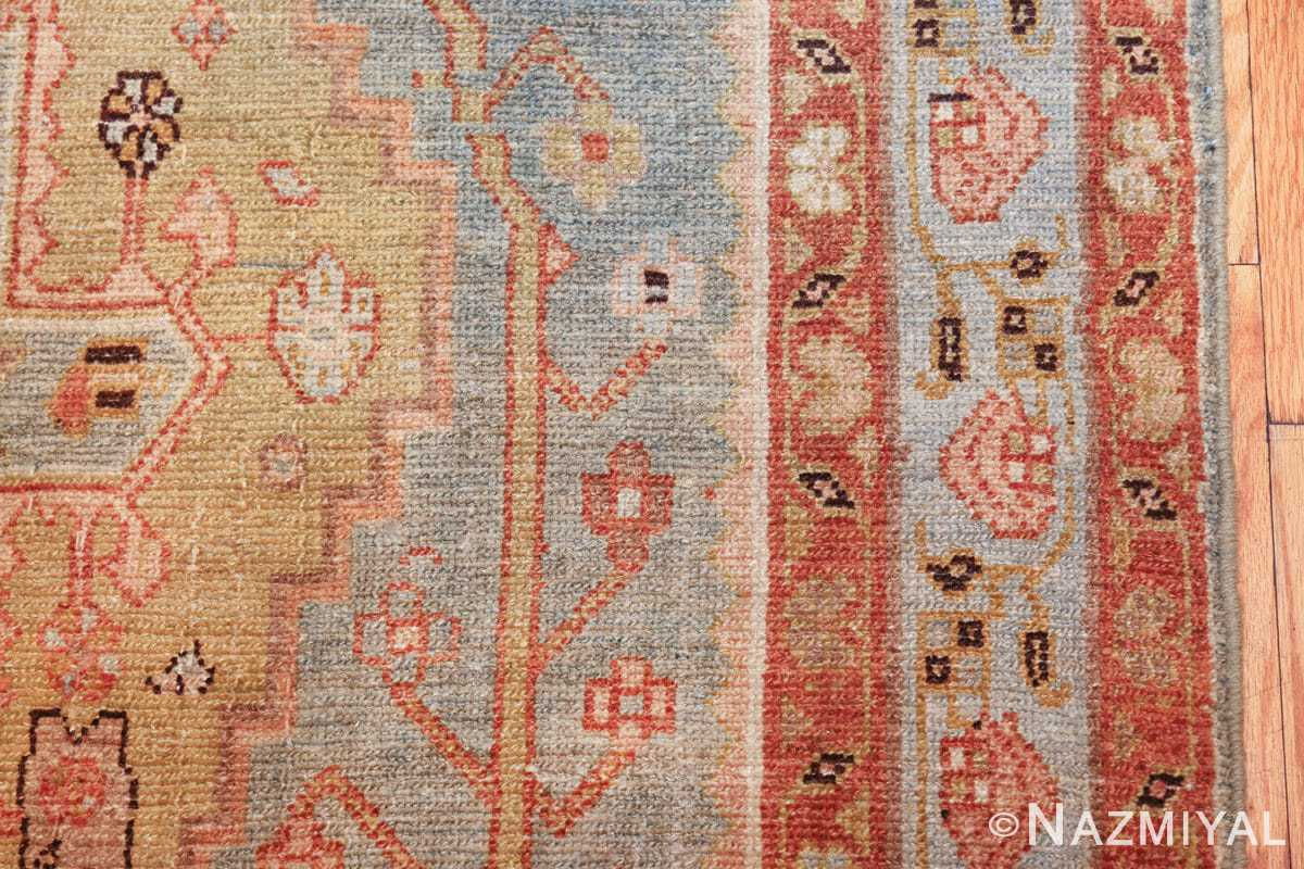 antique blue background malayer persian runner rug 49626 border Nazmiyal