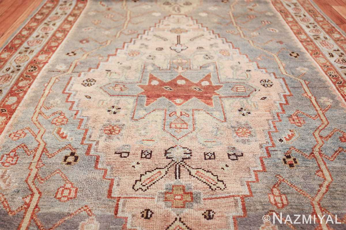 antique blue background malayer persian runner rug 49626 pink Nazmiyal