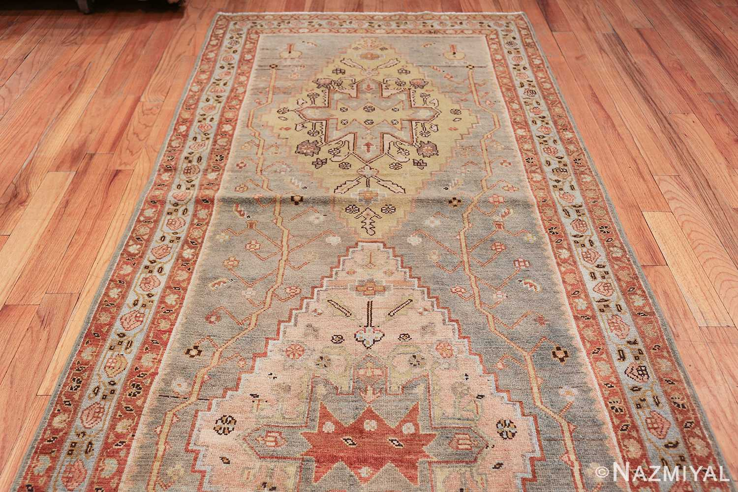 antique blue background malayer persian runner rug 49626 top Nazmiyal