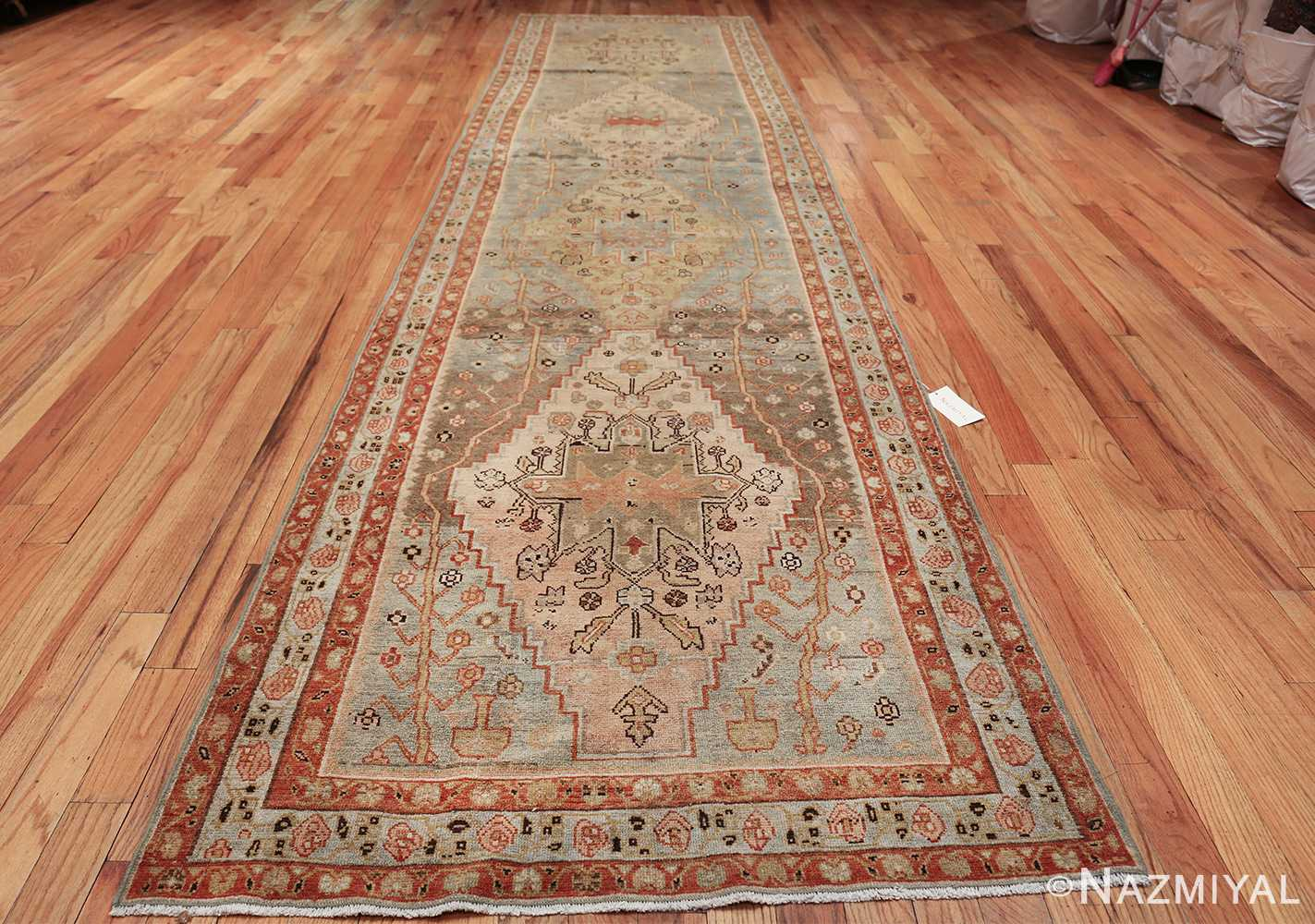 antique blue background malayer persian runner rug 49626 whole Nazmiyal