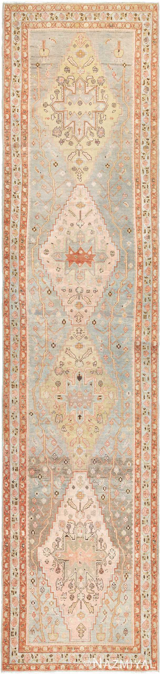 Tribal Decorative Antique Persian Malayer Runner Rug 49626 by Nazmiyal
