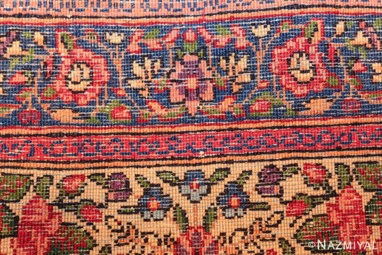 antique floral kerman persian rug 49617 knots Nazmiyal