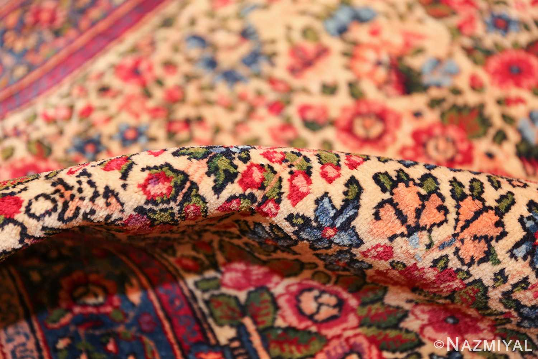 antique floral kerman persian rug 49617 pile Nazmiyal