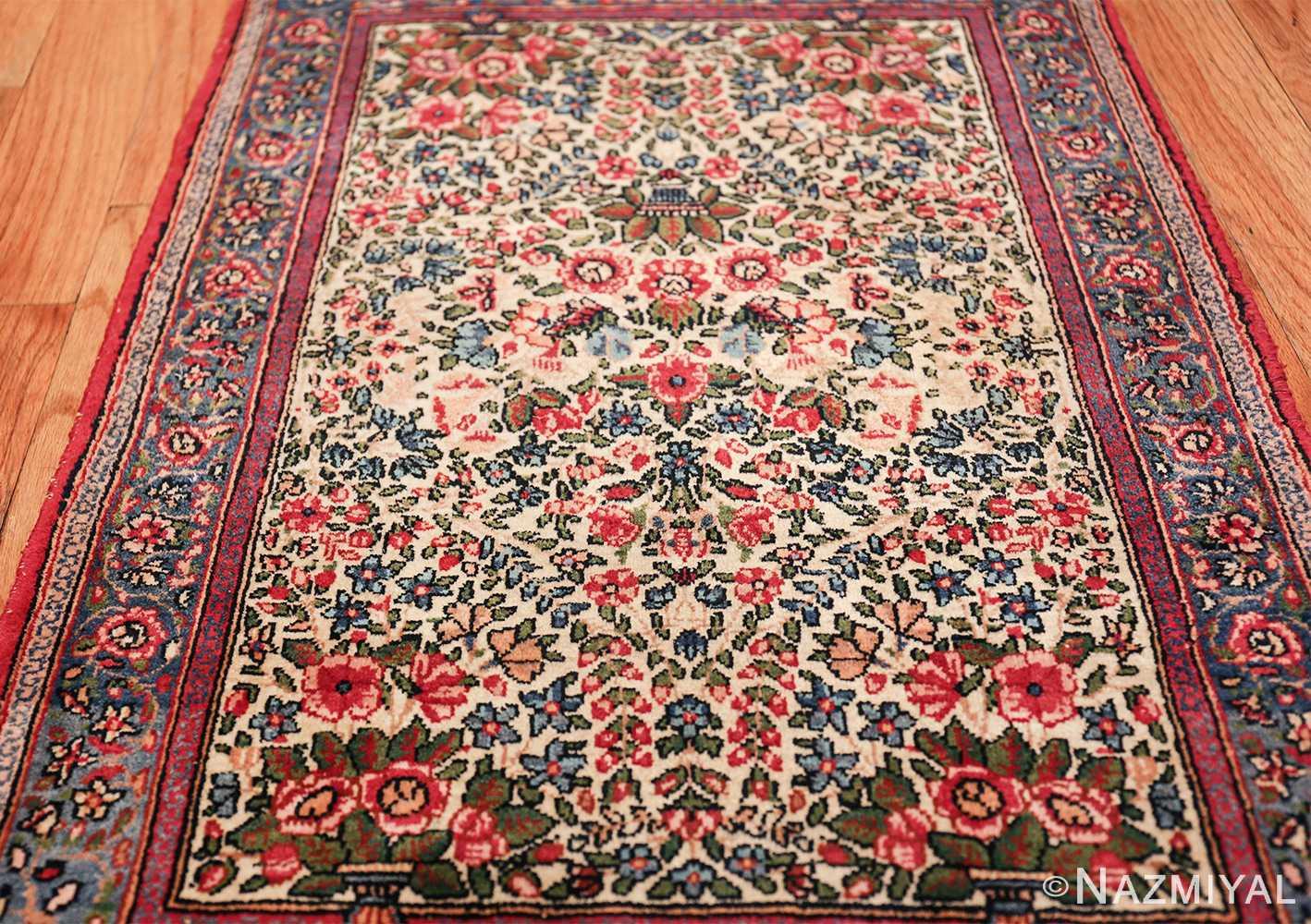 antique floral kerman persian rug 49617 shot Nazmiyal