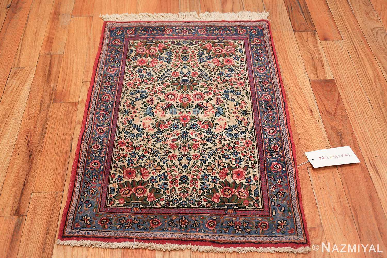 antique floral kerman persian rug 49617 whole Nazmiyal