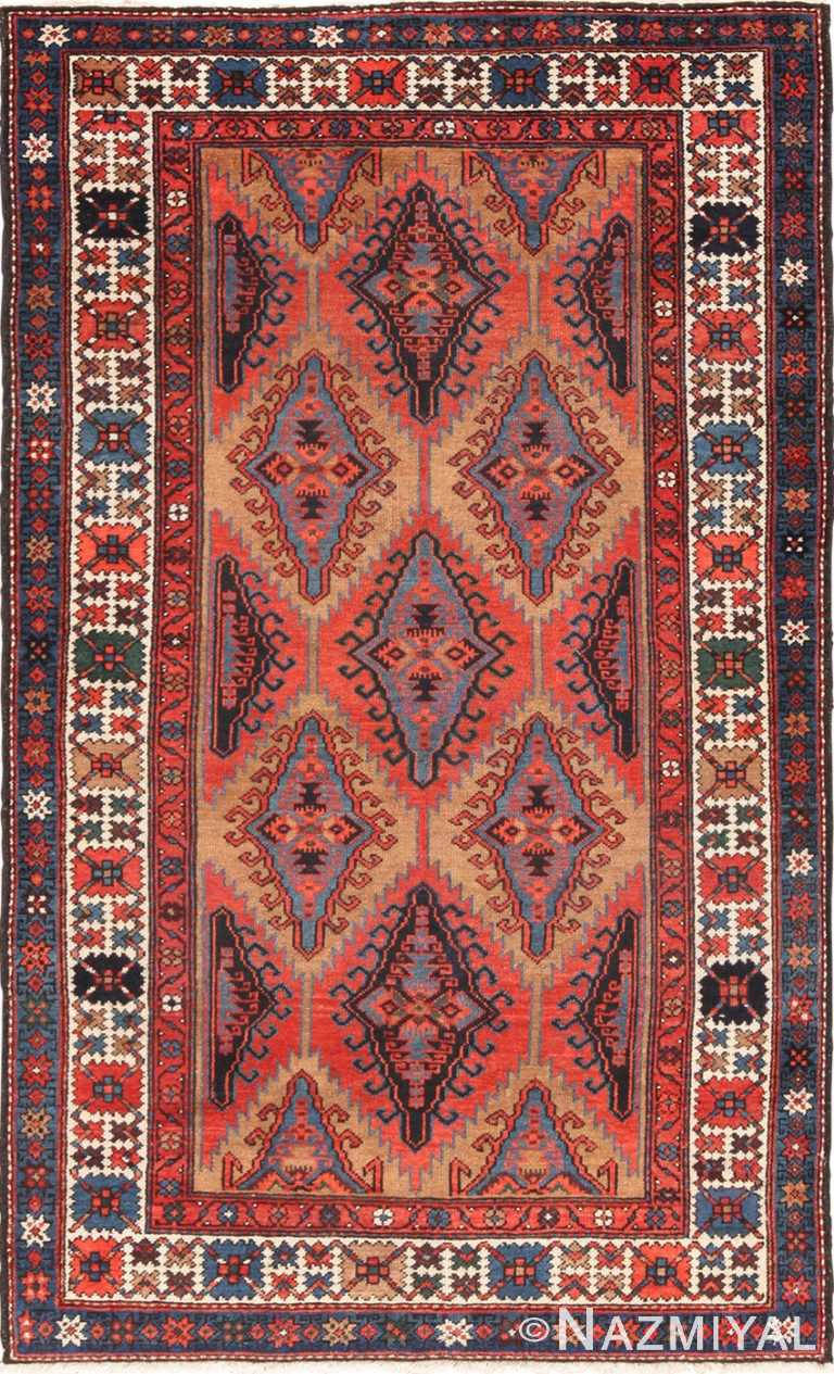 Small Tribal Geometric Antique Northwest Persian Rug 49641 by Namziyal