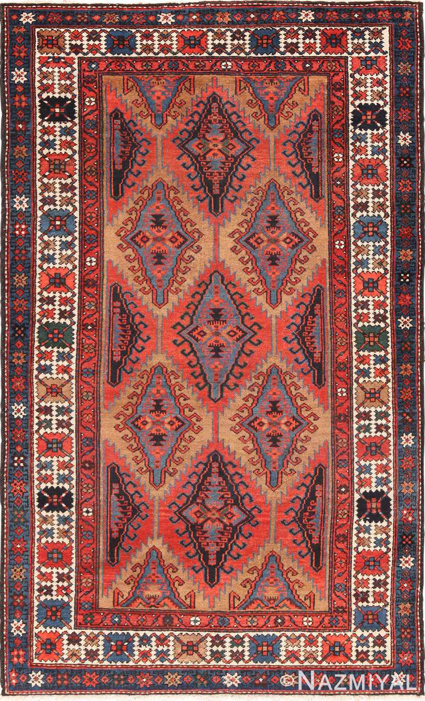 Small Tribal Geometric Antique Northwest Persian Rug 49641 by Namziyal