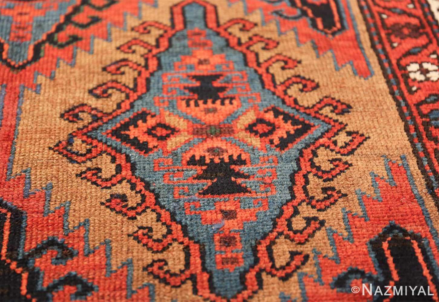 Small Tribal Geometric Antique Northwest Persian Rug 49641