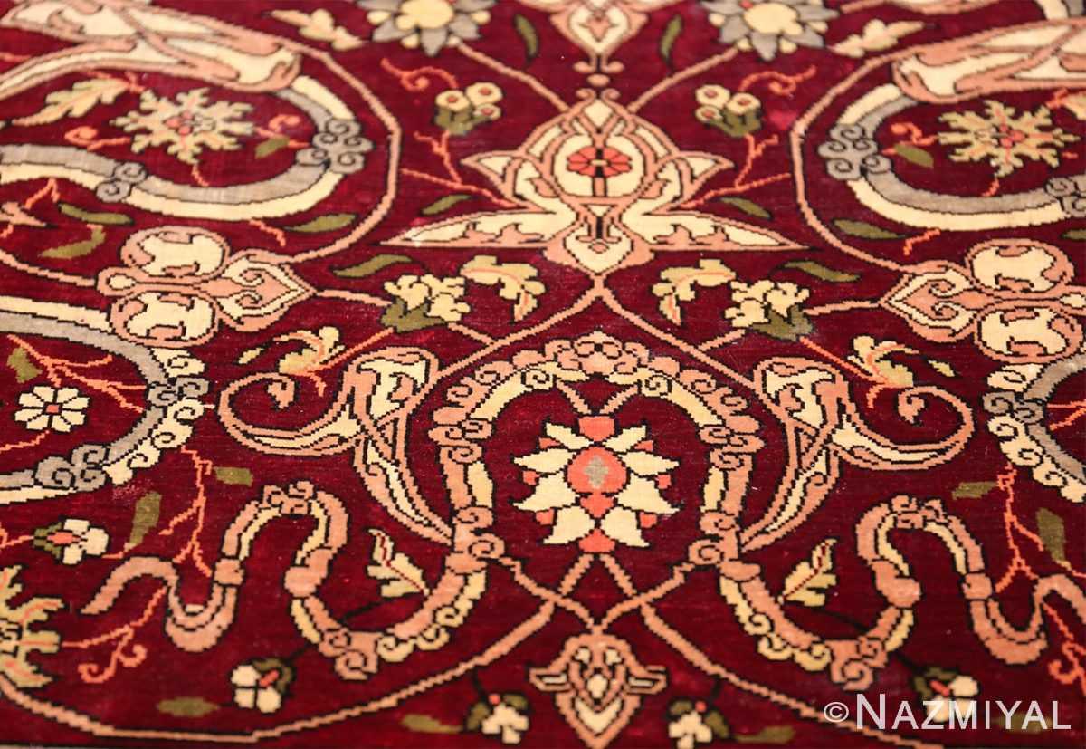 vintage silk hereke turkish prayer rug 49611 star Nazmiyal