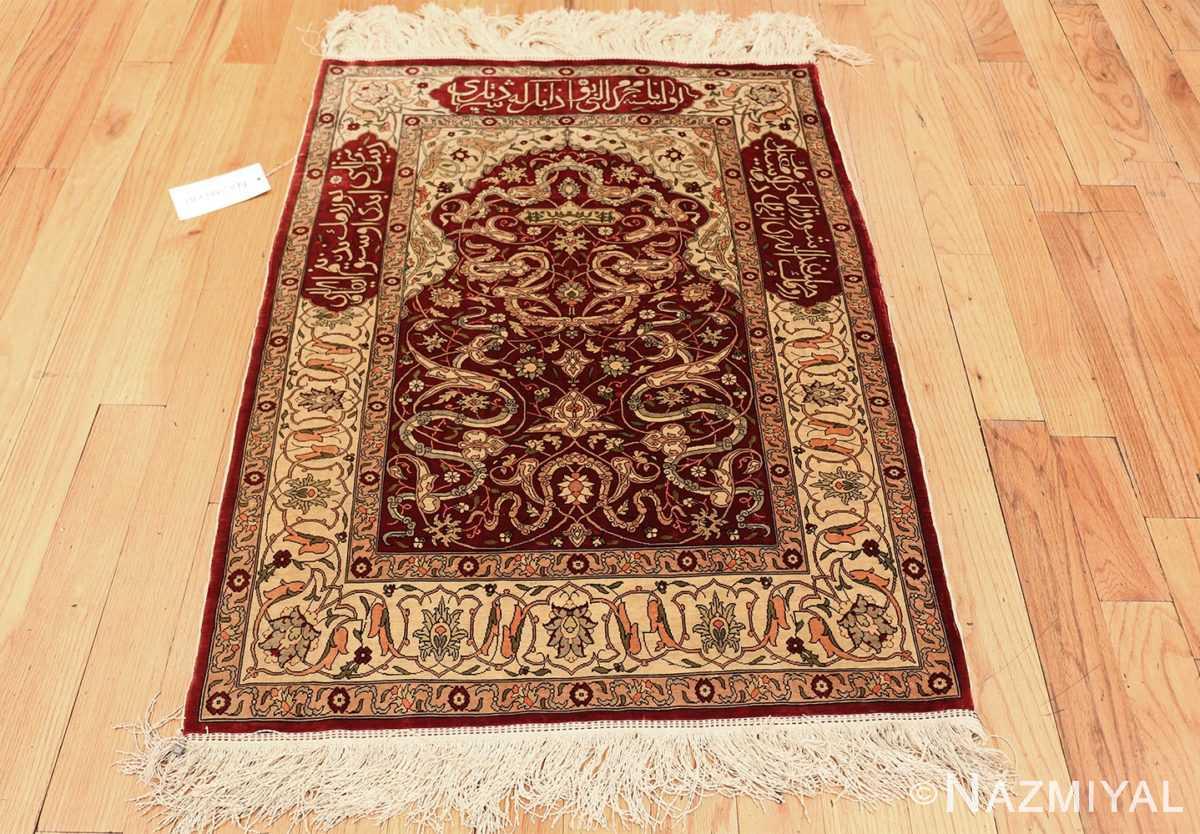 vintage silk hereke turkish prayer rug 49611 whole Nazmiyal