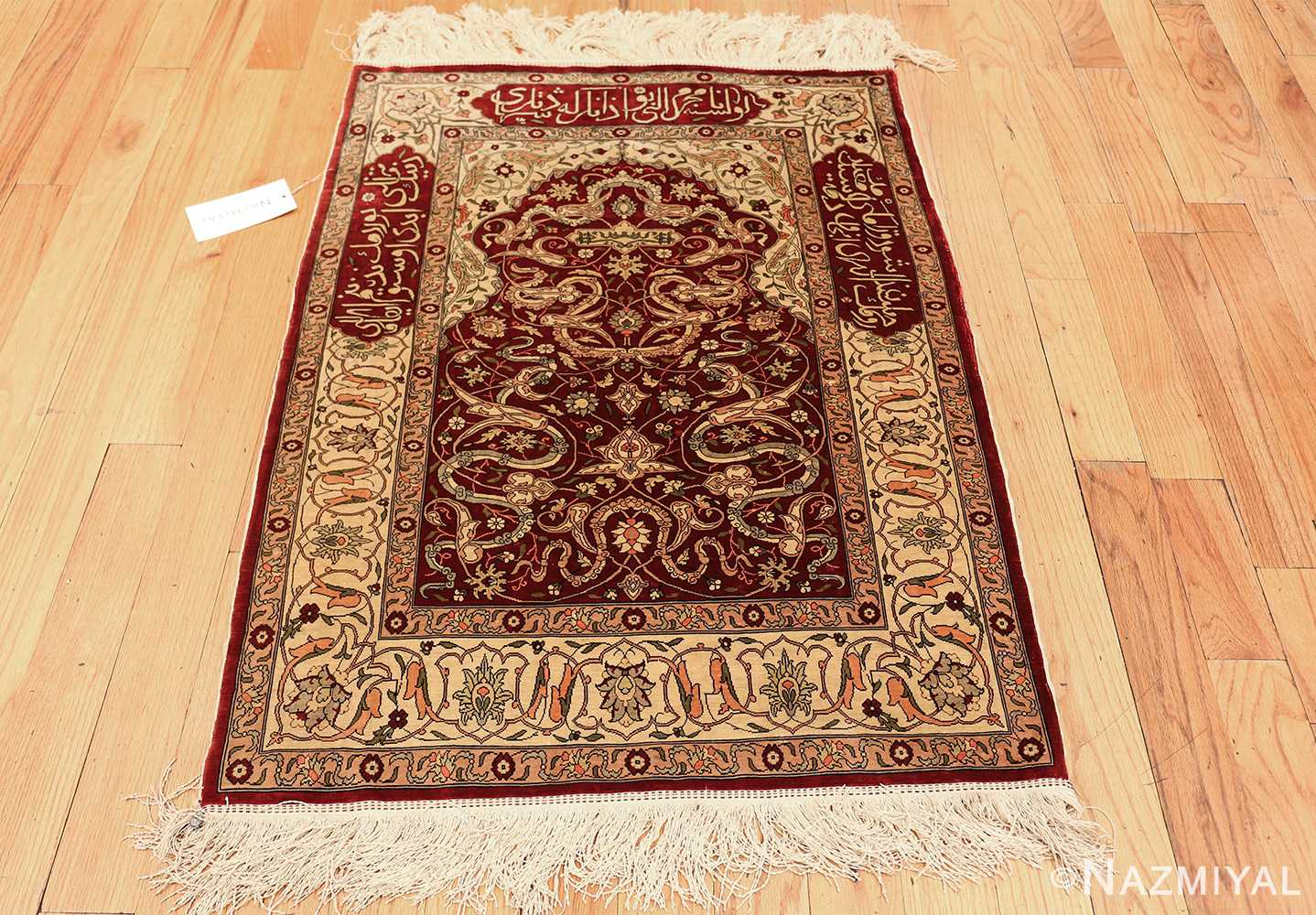 vintage silk hereke turkish prayer rug 49611 whole Nazmiyal