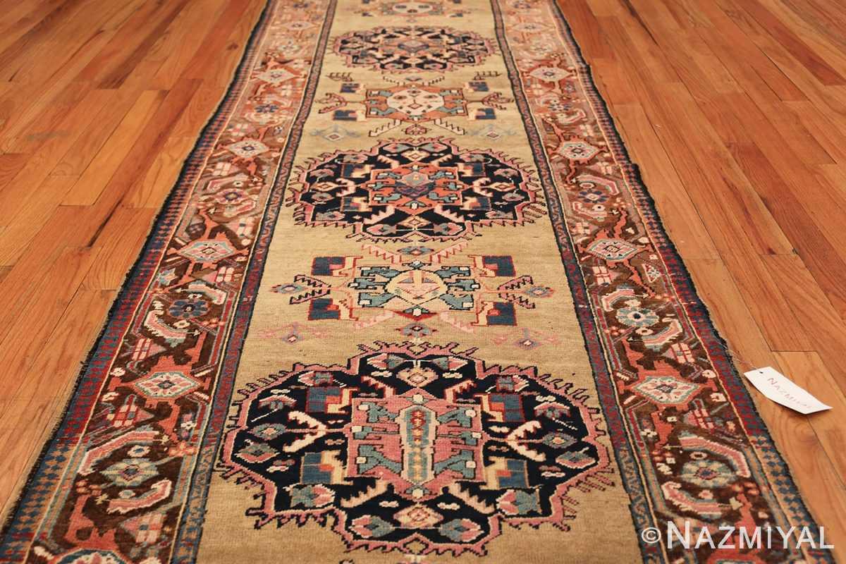 antique karabagh caucasian runner rug 49639 field Nazmiyal