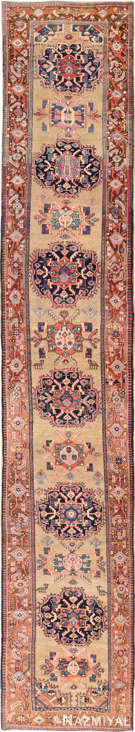 antique karabagh caucasian runner rug 49639 Nazmiyal