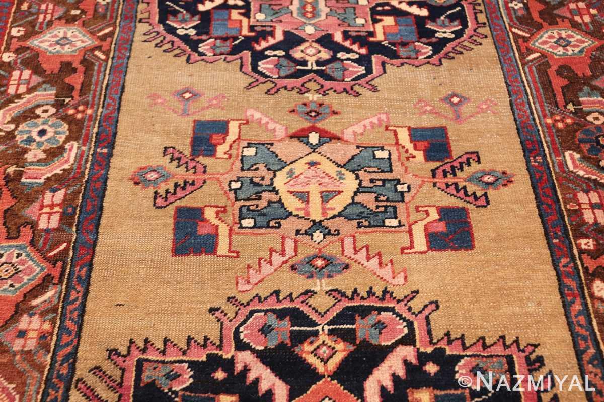 antique karabagh caucasian runner rug 49639 yellow Nazmiyal