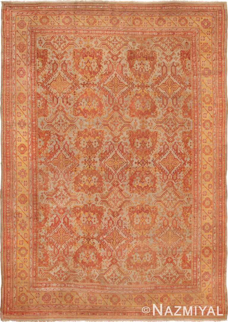 Large Decorative Antique Turkish Oushak Rug 49652 by Nazmiyal