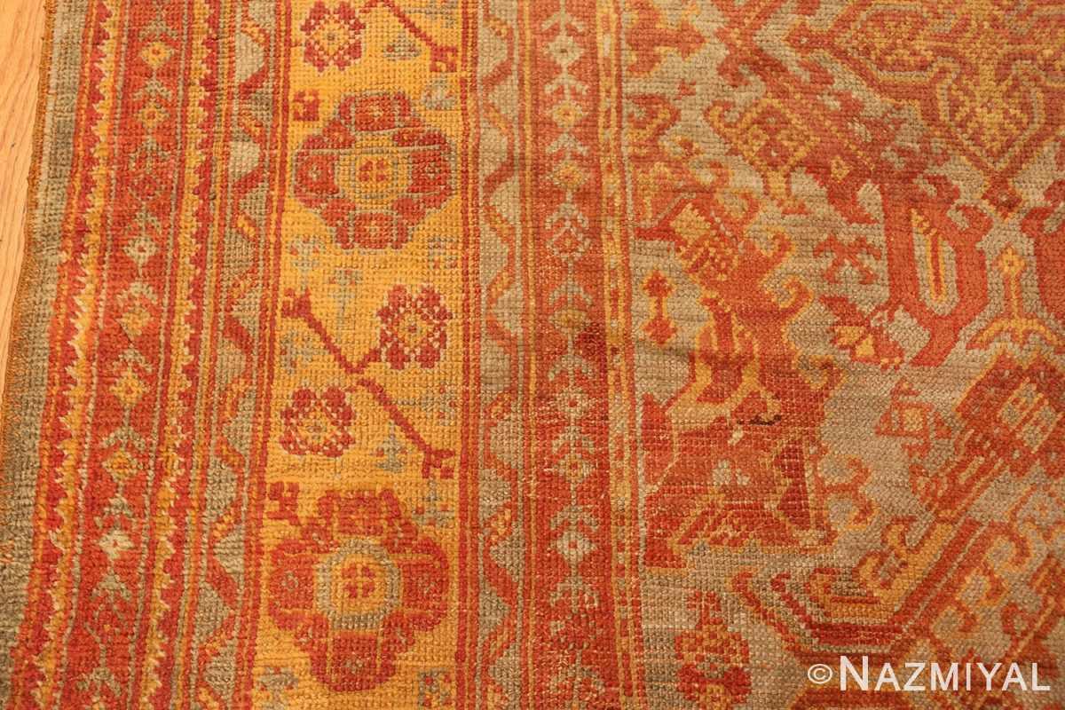 antique large oushak turkish rug 49652 border Nazmiyal