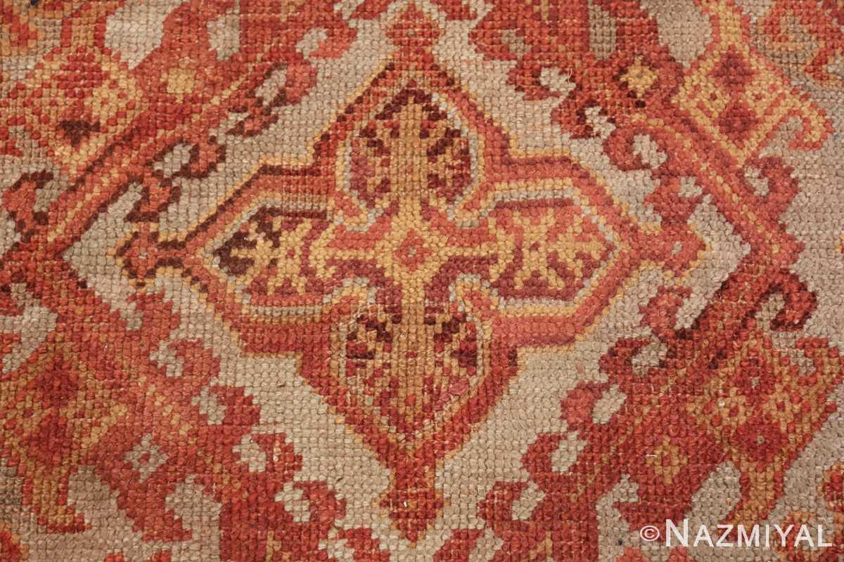 antique large oushak turkish rug 49652 closeup Nazmiyal