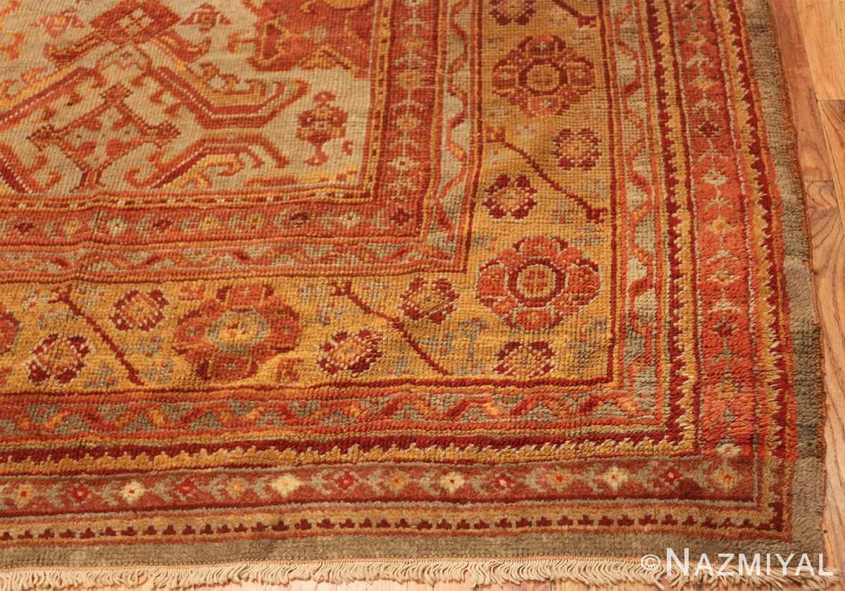 antique large oushak turkish rug 49652 part Nazmiyal