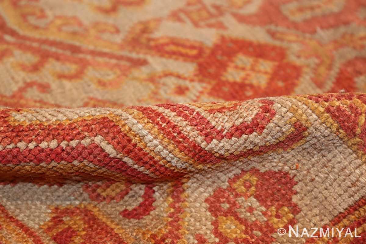 antique large oushak turkish rug 49652 pile Nazmiyal