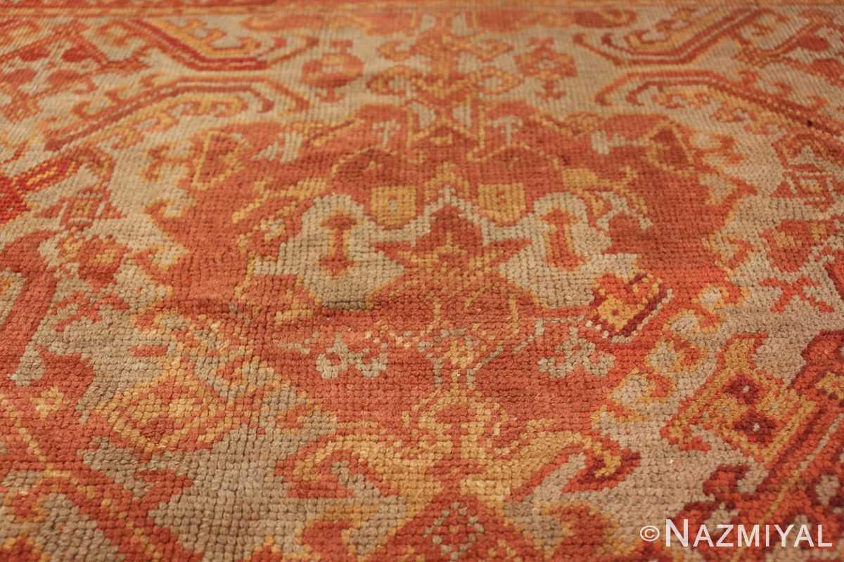 antique large oushak turkish rug 49652 round Nazmiyal