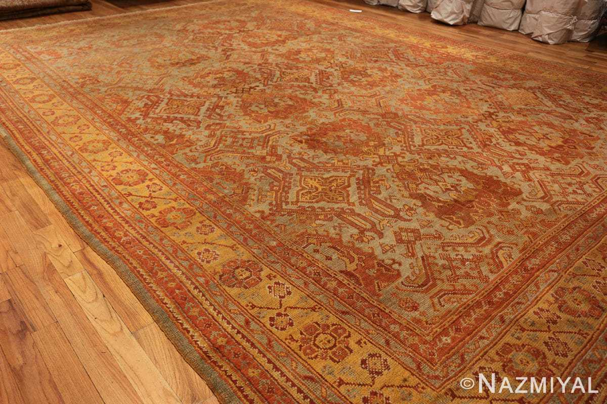 antique large oushak turkish rug 49652 side Nazmiyal
