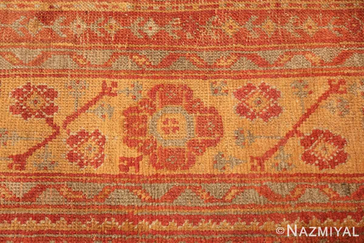 antique large oushak turkish rug 49652 yellow Nazmiyal