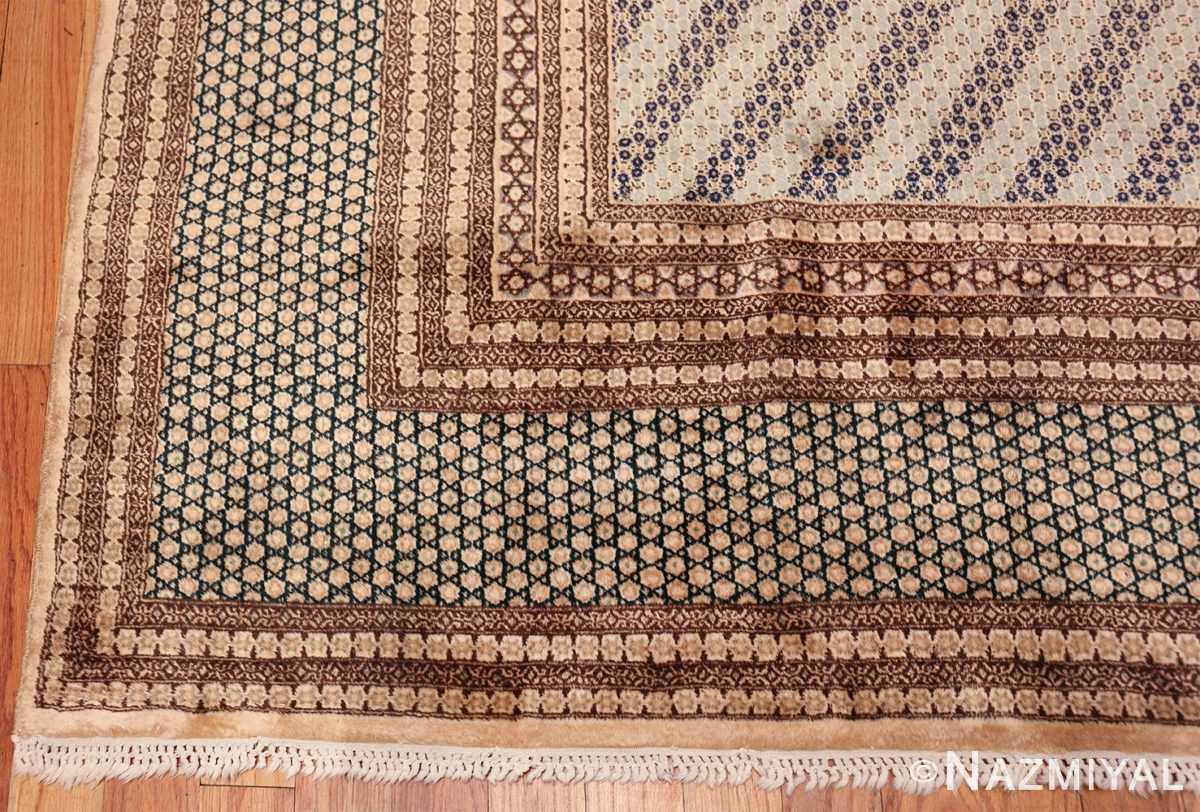 antique light blue khorassan persian rug 49633 corner Nazmiyal