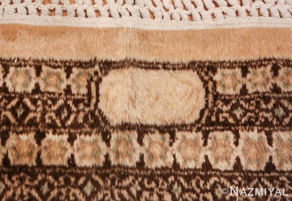 antique light blue khorassan persian rug 49633 signature Nazmiyal