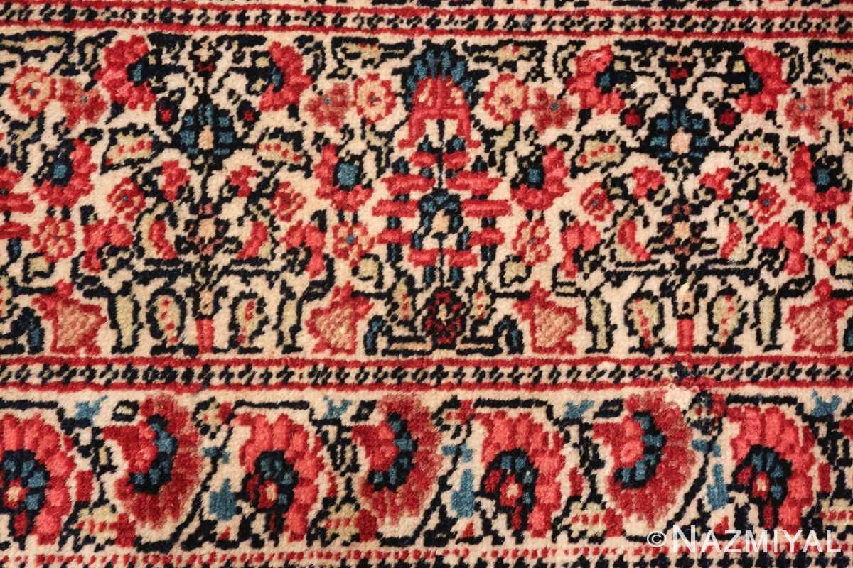 antique millefleur design kerman persian rug 49620 ivory Nazmiyal