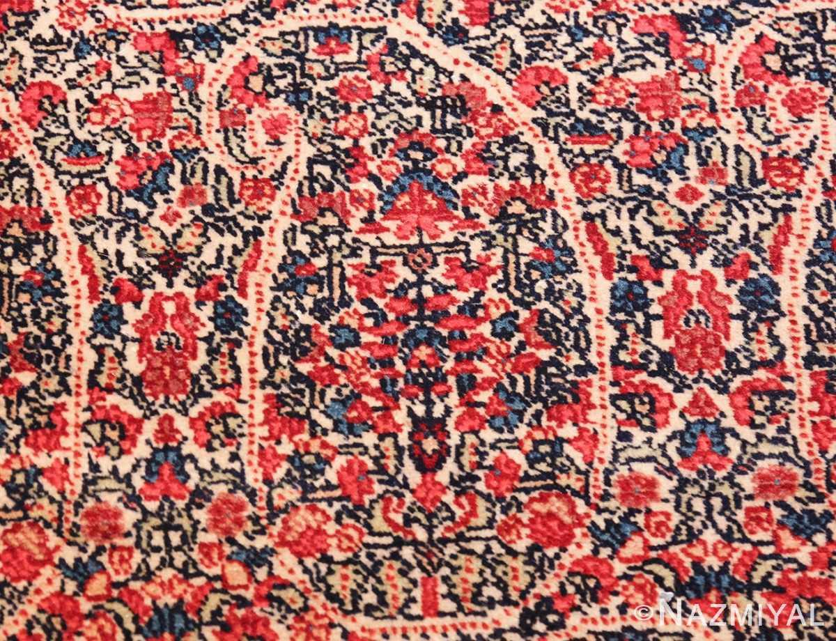 antique millefleur design kerman persian rug 49620 one Nazmiyal