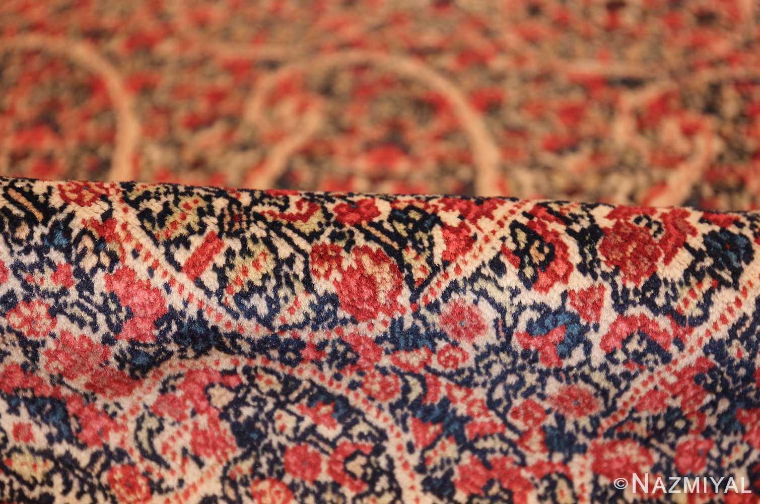 antique millefleur design kerman persian rug 49620 pile Nazmiyal
