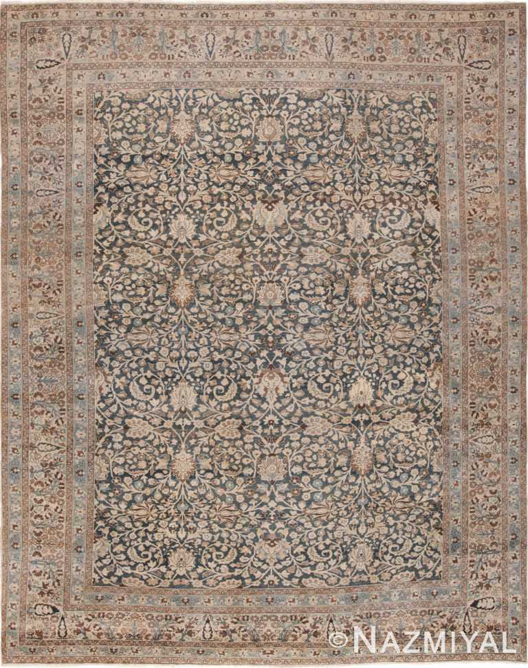 Antique Gray Room Size Persian Khorassan Rug 49655 by Nazmiyal
