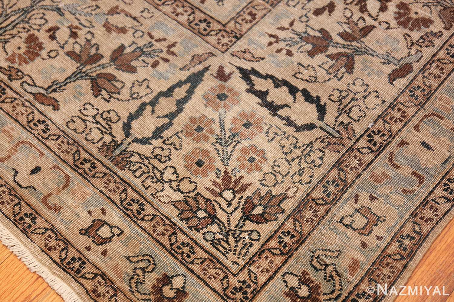 antique navy background khorassan persian rug 49655 all Nazmiyal