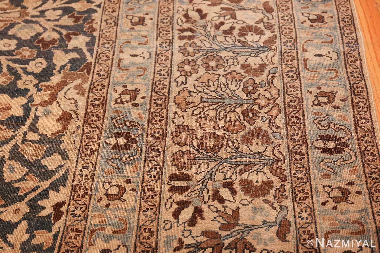 antique navy background khorassan persian rug 49655 border Nazmiyal