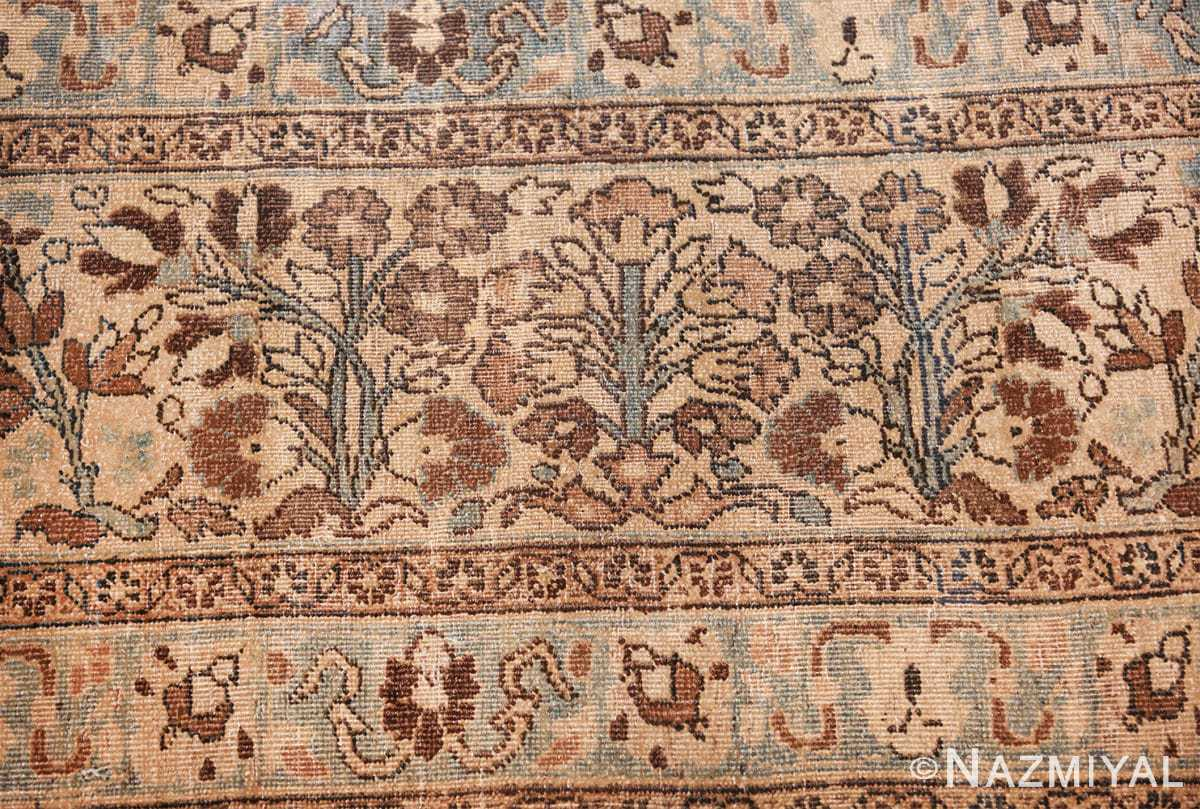 antique navy background khorassan persian rug 49655 bushes Nazmiyal