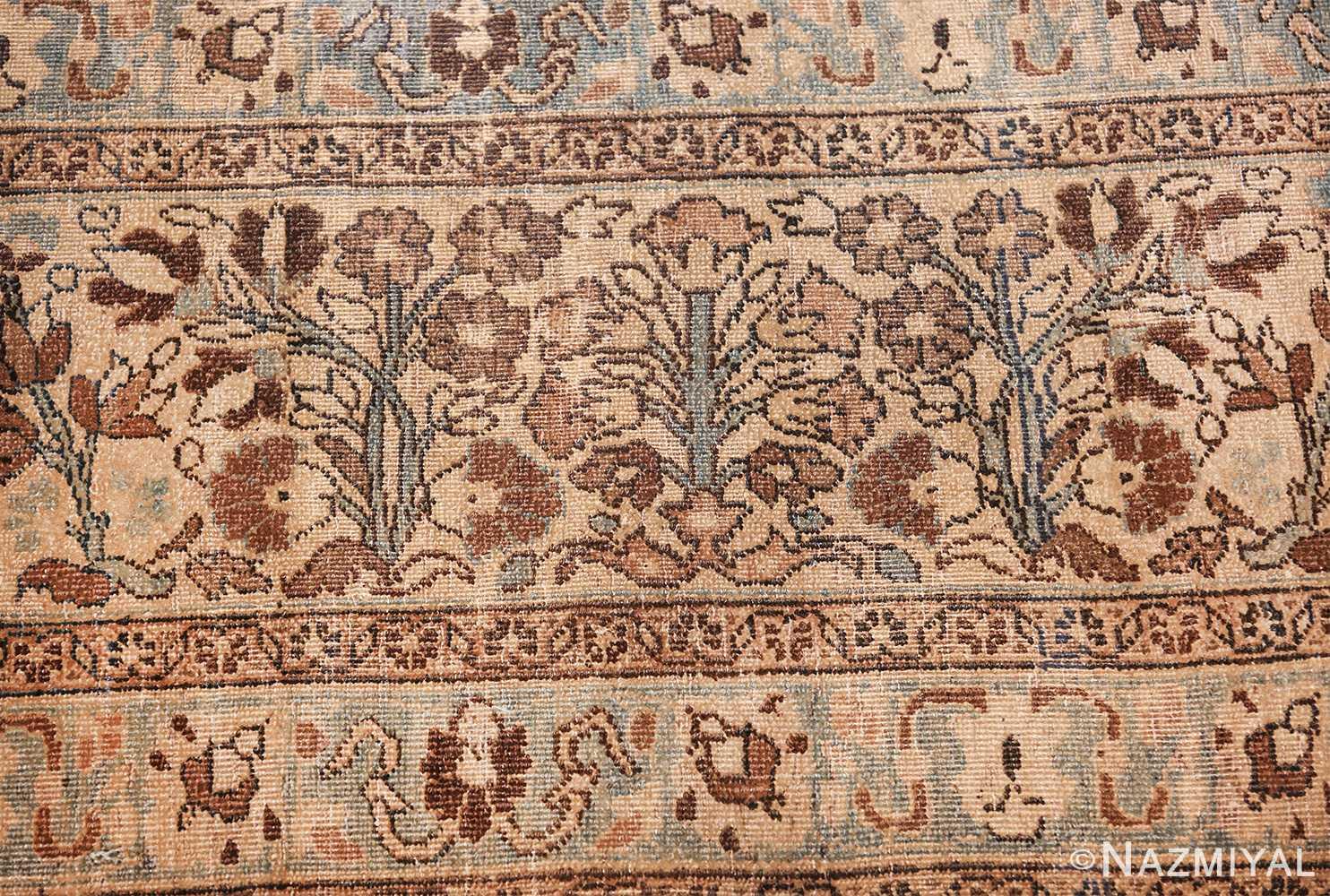 antique navy background khorassan persian rug 49655 bushes Nazmiyal