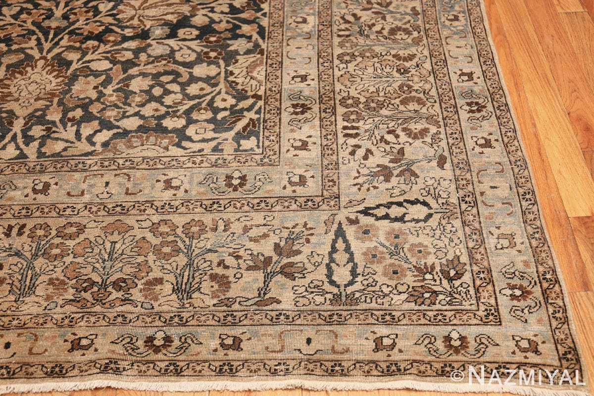 antique navy background khorassan persian rug 49655 corner Nazmiyal