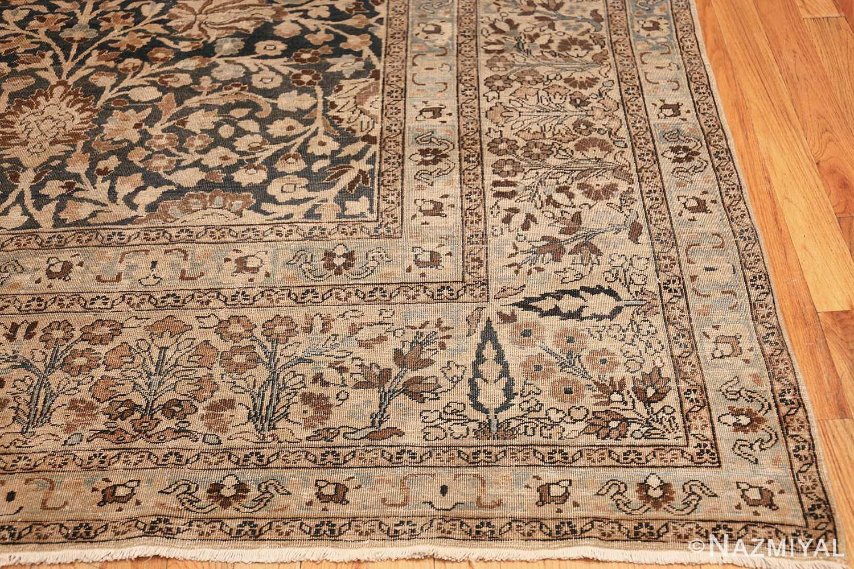antique navy background khorassan persian rug 49655 corner Nazmiyal