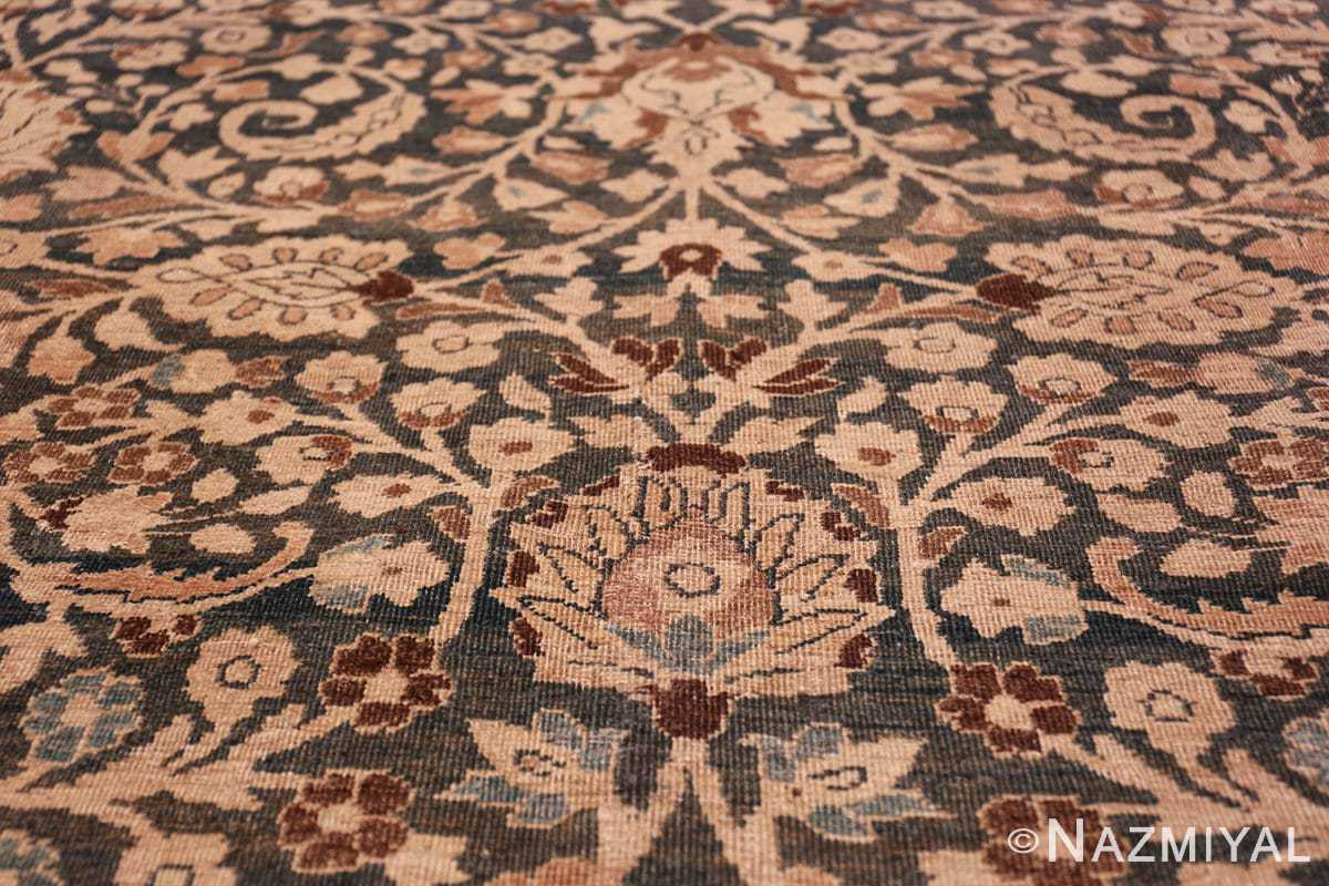 antique navy background khorassan persian rug 49655 flower Nazmiyal