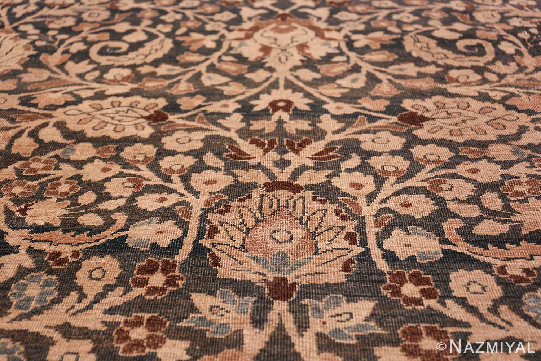 antique navy background khorassan persian rug 49655 flower Nazmiyal