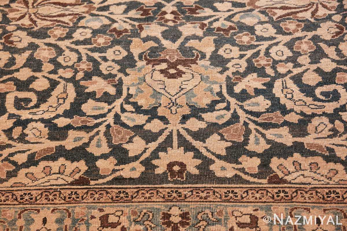 antique navy background khorassan persian rug 49655 heart Nazmiyal