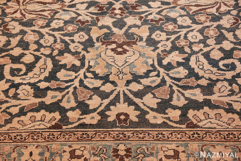 antique navy background khorassan persian rug 49655 heart Nazmiyal