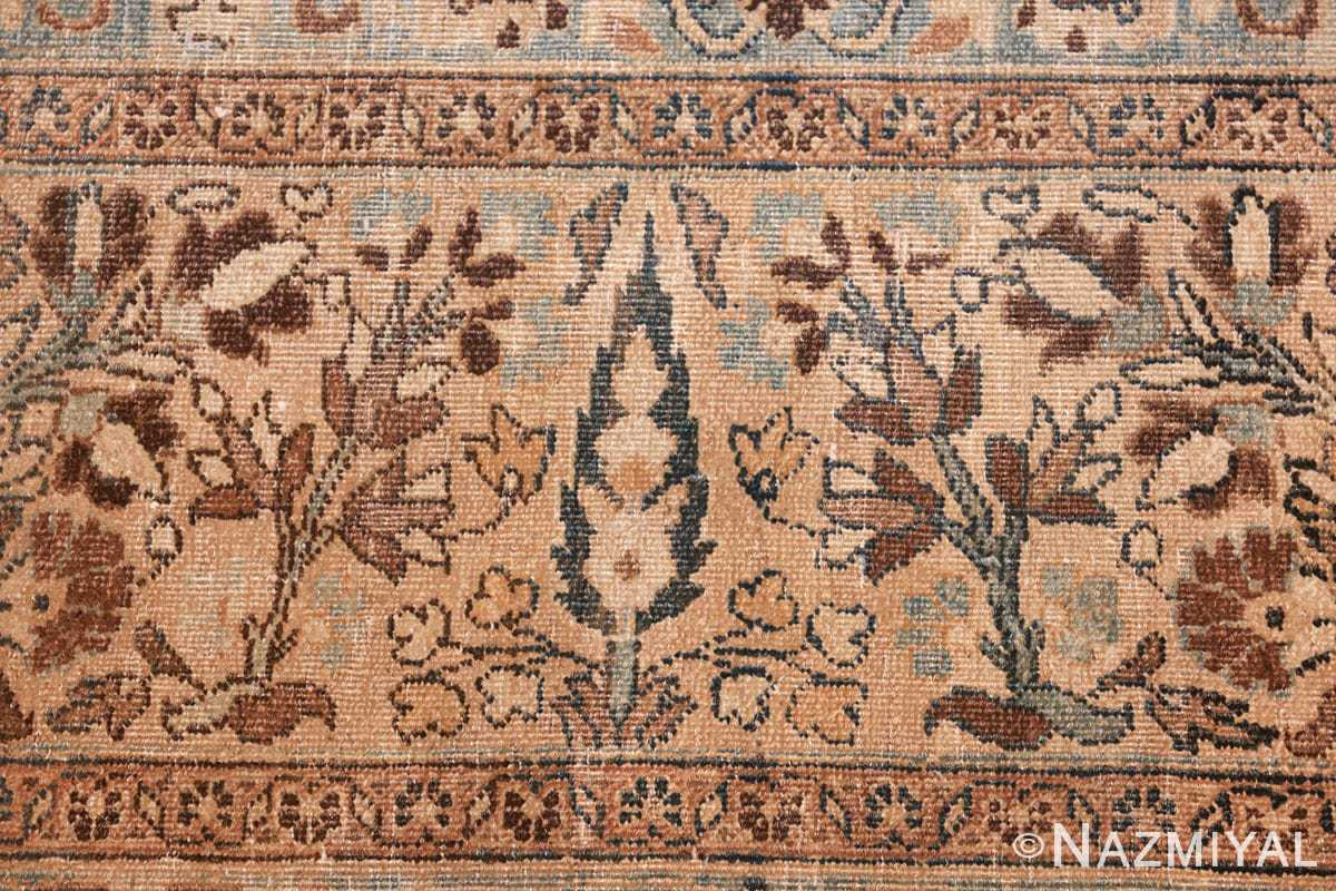 antique navy background khorassan persian rug 49655 pile Nazmiyal