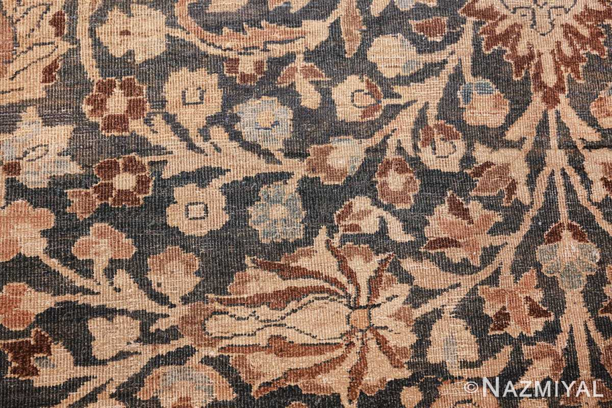 antique navy background khorassan persian rug 49655 scrolls Nazmiyal