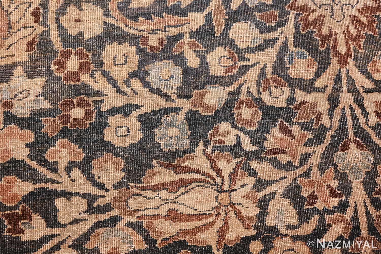 antique navy background khorassan persian rug 49655 scrolls Nazmiyal