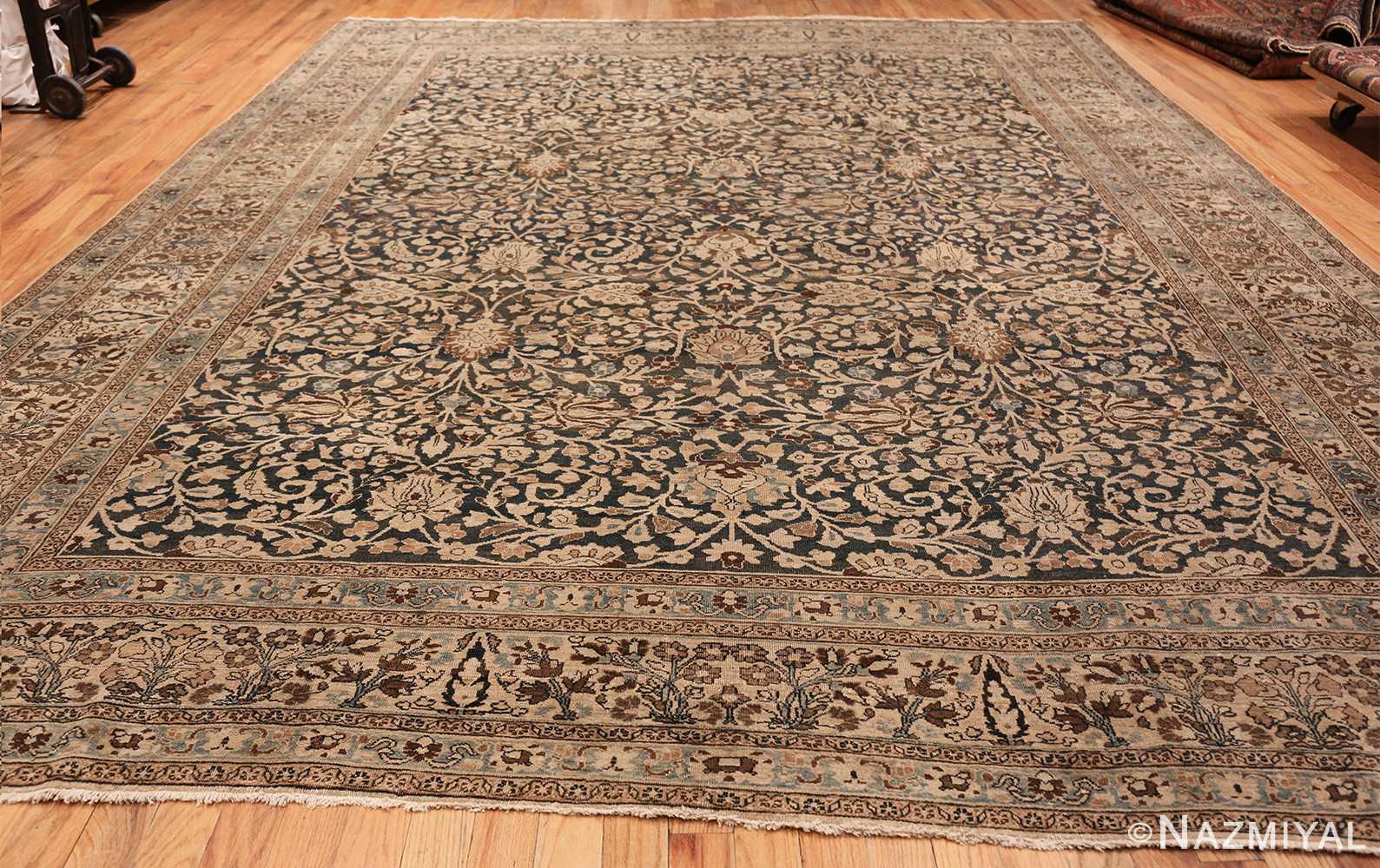 antique navy background khorassan persian rug 49655 whole Nazmiyal
