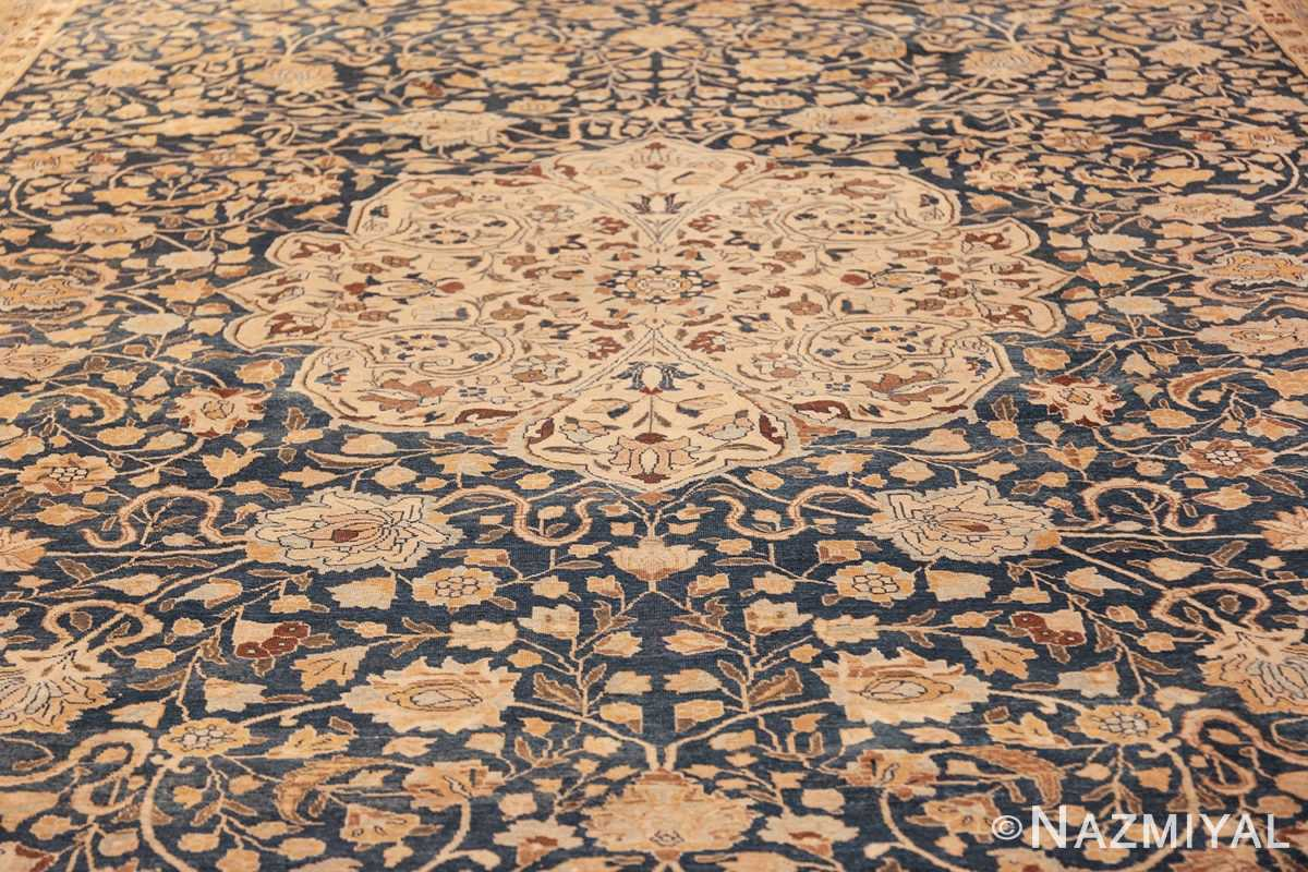 antique navy background tabriz persian rug 49635 field Nazmiyal